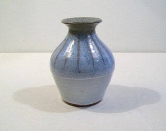Simple Small Sky Blue Artisan Studio Pottery Vase