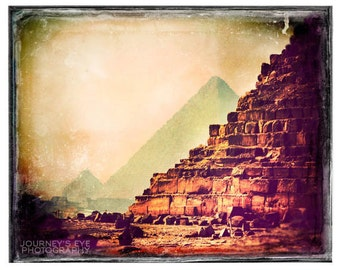 Egypt picture, Egypt photograph, retro photography, pyramid, wall art, archaeology, home decor, travel print