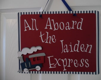 Train Birthday Party -  All Aboard Train Party Decorations- Train Baby Shower