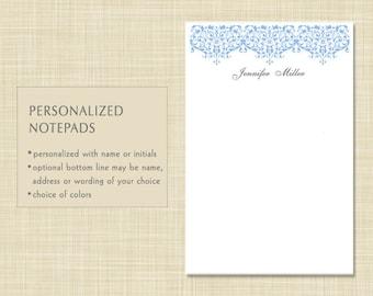 Personalized Notepad - Damask
