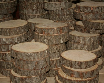Rustic Wedding Wood Slice- 8 Inch in Dia-Set of 100-Centerpieces-Center Pieces-Cake Stand-Approximately 8 inch diameter- 1.5 inches Thick
