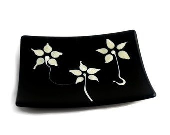 Flameworked Flower Plate FB310