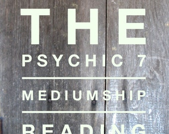 The Psychic Seven  Mediumship Board VIDEO Reading
