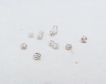 Sterling Silver Beaded Rondelle 3mm x 5mm (12 Beads)