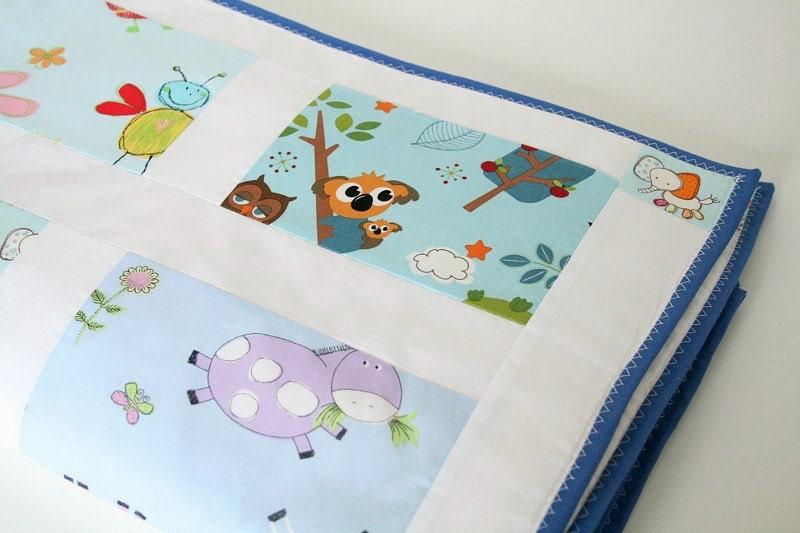 Modern Baby Quilt Baby Boy Bedding Blue Nursery Bedding
