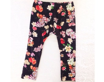 Floral leggings - Girls Floral Print Leggings - Baby leggings - All sizes