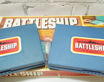 Vintage Battleship Board Game. Milton Bradley. 1978. Back Before Video Games or Streaming Television. Family Room Decor. Childhood Memories.