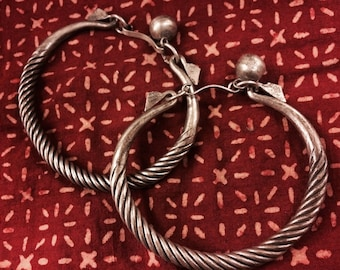 Pair of White Metal Bracelets from Thailand