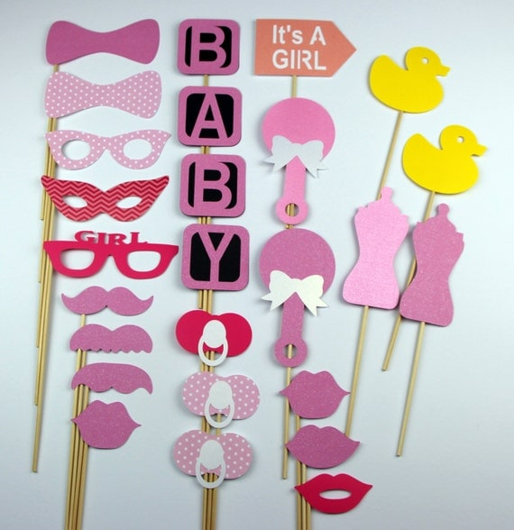 sale baby shower photo booth props set of 26 baby girl shower