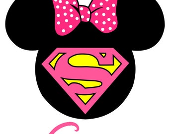 Custom Personalized Disney Mickey Supergirl Iron on Transfer Decal(iron on transfer, not digital download)