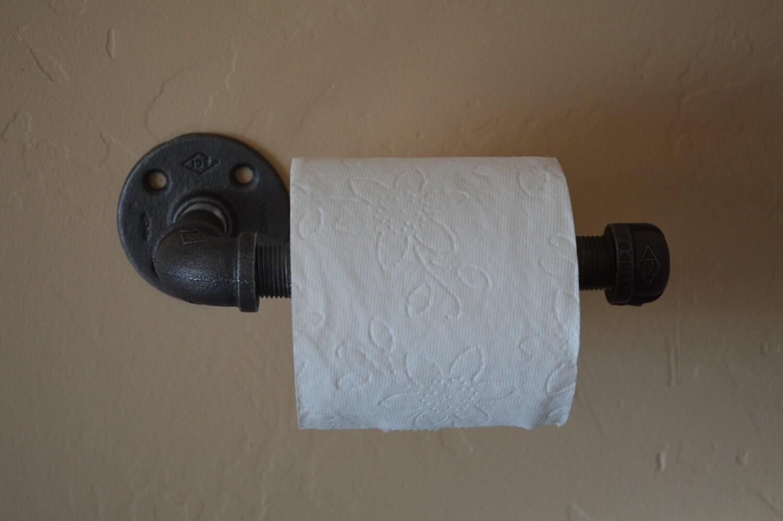 industrial toilet paper holder wall hanging by kingwoodworks. Black Bedroom Furniture Sets. Home Design Ideas