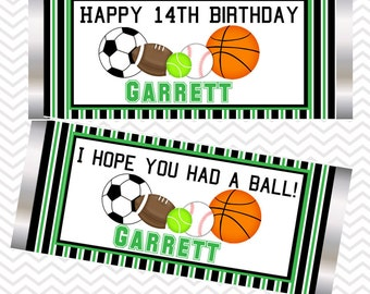 All Star Sports - Personalized Candy Bar Wrapper