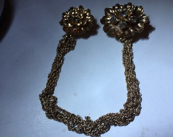 Vintage jewelry Barclay gold filled signed sweater clip combo Free Shipping
