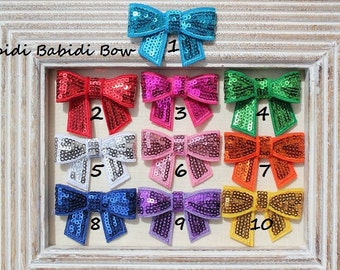 Girls hair bow - set of 5 - toddler, little girl hair bow - Sequin bow knot applique - Birthday gift - You can choose colors