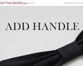 15 % ON SALE Add on Handles : Cotton Strap