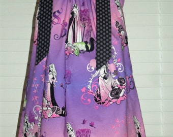 A Boutique Pillowcase dress featuring Sleeping Beauty in the Maleficent Theme Size 3 months thru 6/7 available: CH064
