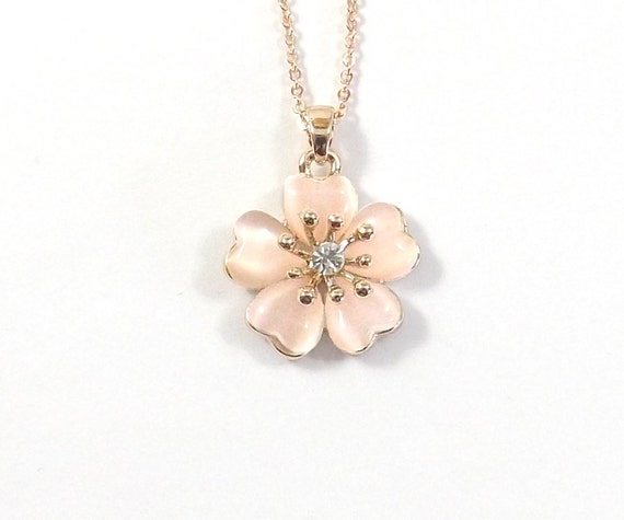 cherry blossom necklace necklace cherry by koolstuff2