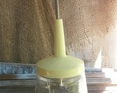 Vintage glass nut chopper, onion chopper, kitchen chopper