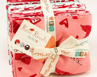 Kiss Kiss Fat Quater Bundle by Abi Hall for Moda Fabrics