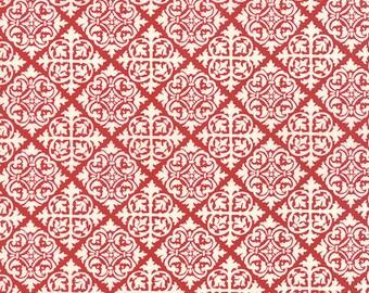 El Gallo Damask Tiles in Red 19693-15 by Deb Strain for Moda