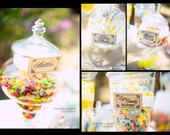Set of 10- Candy Buffet / Candy Bar / Food Labels / Tags Wedding Signs - I print the names on labels for you