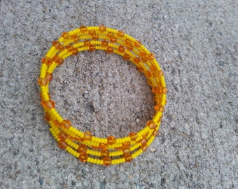 Sunflower Sweetie Beaded Bracelet