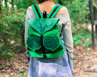 Leaf Bohemian Backpack, Women's Rucksack, Festival Backpack, Grunge Backpack,School Backpack, Urban fashion, Modern Backpack, Waterproof Bag