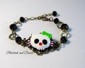 Skull Kitty Bracelet