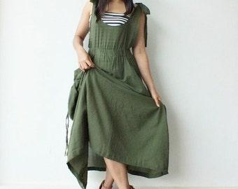 Free Shipping @@@     Happy...Green  Maxi Dress Cotton   (Free Shipping)