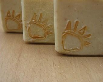 CLEARANCE Sandalwood Vetyver handmade soap oily skin, Gardener soap oily greasy skin, Mechanical soap greasy hands