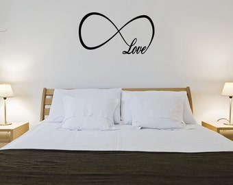 Love Infinity Wall Decal Lettering Words Vinyl Quote Decor Sticker Bedroom (JR462)