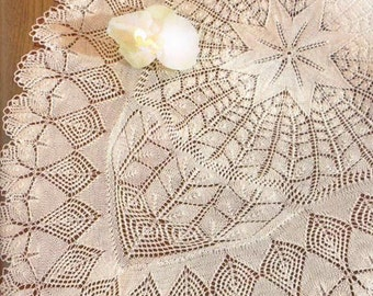 Knitting Pattern Ebook Knitted Lace in white - Doilies 140