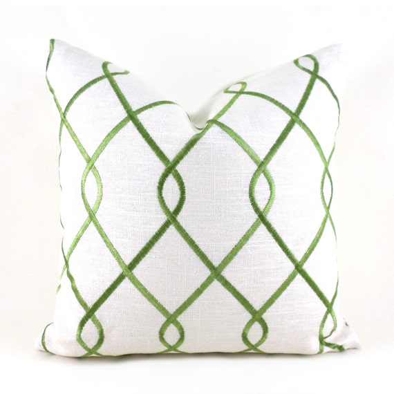 Decorative Pillow Cover ANY SIZE Green Pillow Duralee Rico Jungle Green