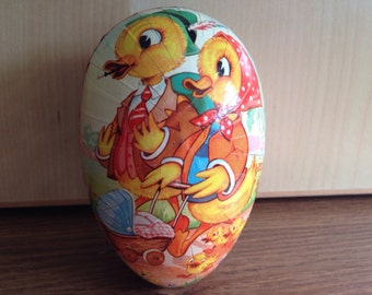 Vintage Paper Mache Egg Easter Egg Candy container Western Germany
