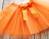 Orange TuTu, Baby TuTu with matching bow, Toddler Tu Tu, Ballerina Tu Tu, Baby Tu Tus, Tutus, Baby Tutus