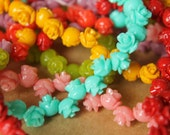 14 pc. Tiny Glossy Rose Beads 7mm by 6.5mm | RES-412