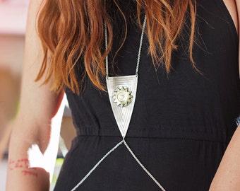 ON SALE Shield body necklace