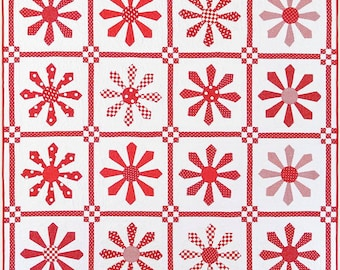 American Jane Patterns Red Daisy by Sandy Klop