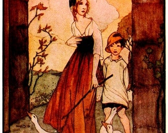 Art by Rie Cramer (1922) from GRIMM'S FAIRY TALES  - Vintage Art, Story Book Art, Family Art, Children's Art