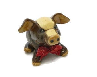 Mr Ceramics Large Sitting Brown Pig