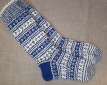 Hand knitted long wool socks