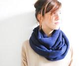 Electric Blue scarf plaid scarf infinity scarf unisex scarf long scarf Loop scarf Circle scarf Women Scarf Gift Scarves scarf