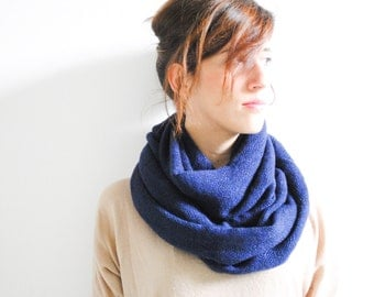 Electric Blue scarf plaid scarf infinity scarf unisex scarf long scarf Loop scarf Circle scarf Women Scarf Gift Scarves scarf
