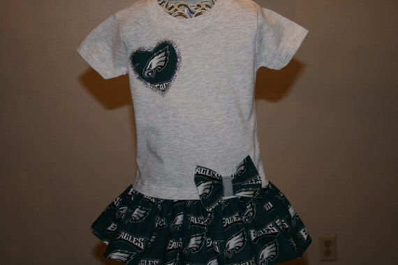 Items similar to Baby Girls 18 mo Gray PHILADELPHIA EAGLES