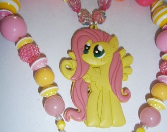 My Little pony Chunky Necklace, Bubblegum Necklace,Girls Chunky Necklace,Cake smash Necklace,Bubble Gum Necklace