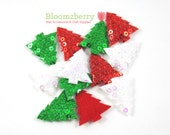 "1"" Sequin Christmas Tree Padded/ Appliques - Christmas Padded - Christmas/Winter - Sequin Appliques - Christmas Tree Appliques"