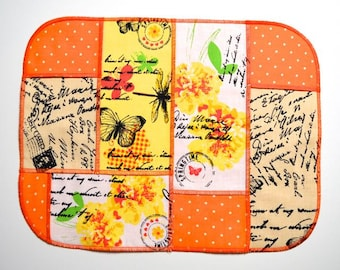 placemat table runner table cloth table decoration tea-cloth spring decoration butterfly orange
