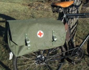Vintage Swiss Military Medic Bag Bicycle pannier