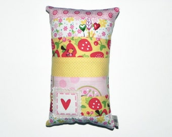 Delicate Pincushion/Pillow with Heart Stamp
