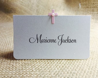 36 Baptism Place Cards, Guest Information Printed